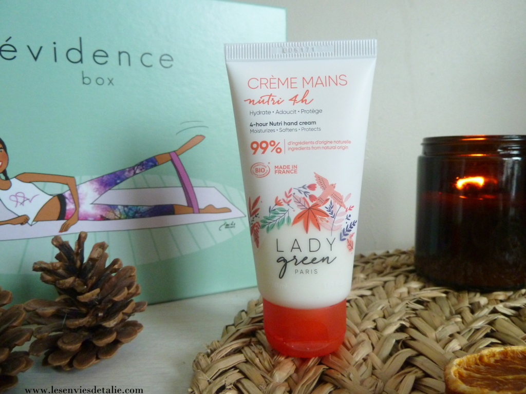 Crème mains nutri 4 heures Lady Green