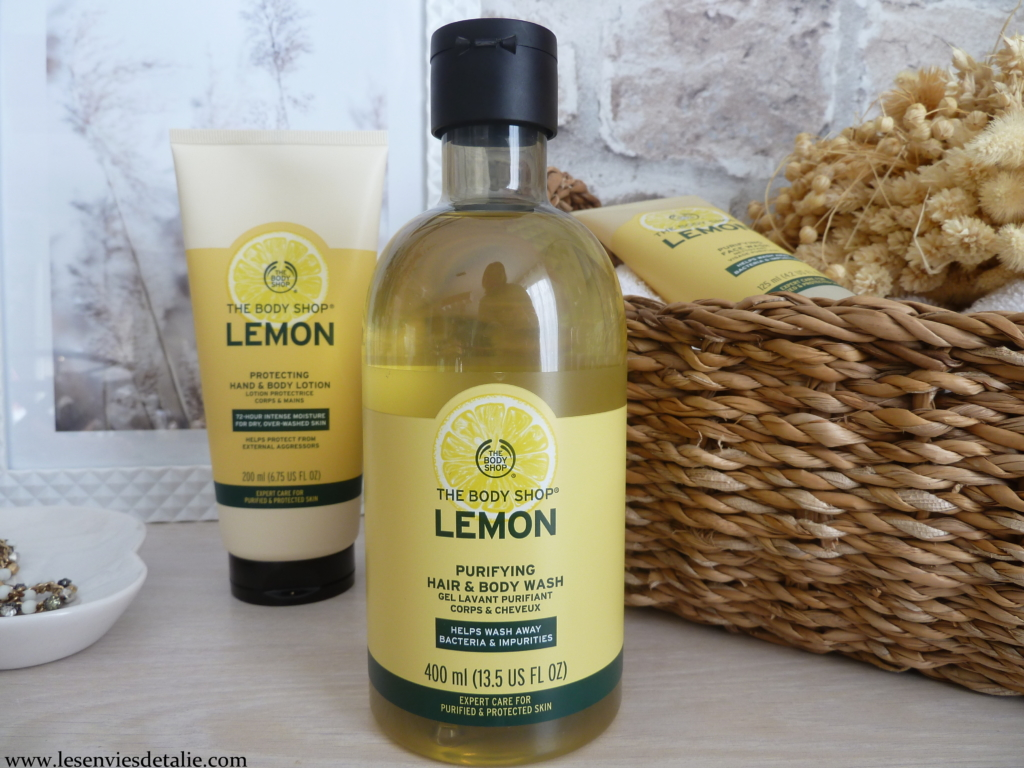 Gel douche corps et cheveux purifiant The Body Shop